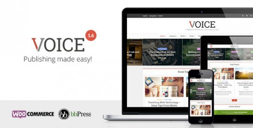 Nulled Voice v1.6 - Clean NewsMagazine WordPress Theme picture