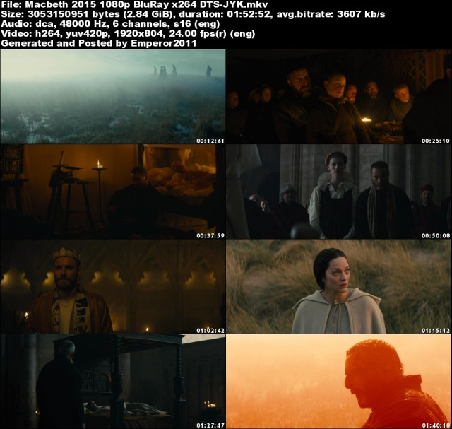 Macbeth (2015) 1080p BluRay x264 DTS-JYK