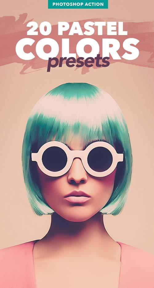 GraphicRiver 20 Pastel Colors Presets - Photoshop Actions