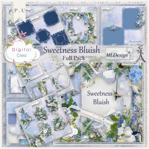 Романтический скрап-набор - Sweetness Bluish