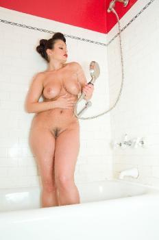 10-14 Blue Latex Shower AriaGiovanni.com