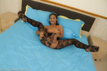 Jasmine - Black Bodysuit Anal Beads