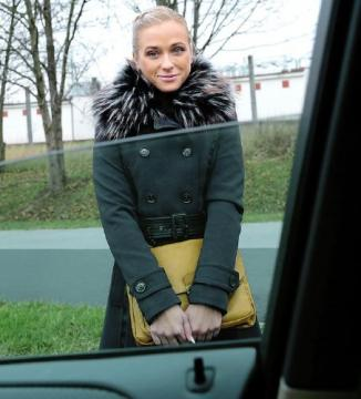 Cristal Caitlin - Fit Hitchhiker in Nude Stockings (2016) HD 720p