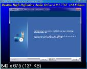 Realtek High Definition Audio Drivers 6.0.1.7765 Vista/7/8.x/10