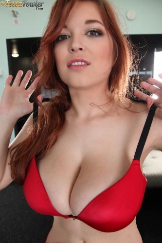 Tessa Fowler - Bra Tryouts Red Bra - Set 2